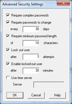 Sage ERP Accpac 6.0 Security Settings