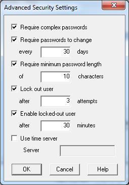Sage ERP Accpac 6.0 Security Settings