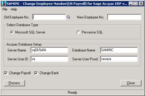 Employee Number Change