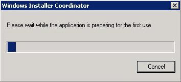 Windows installer coordinator