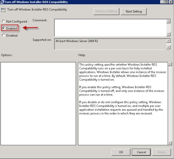 Turn offWindows Installer