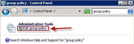 Windows Group lociy page