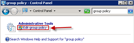 Windows Group lociy page
