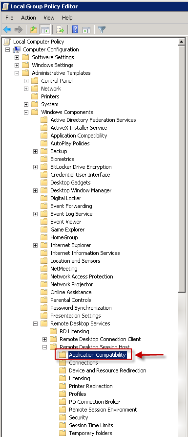 Windows Group Policy Editor