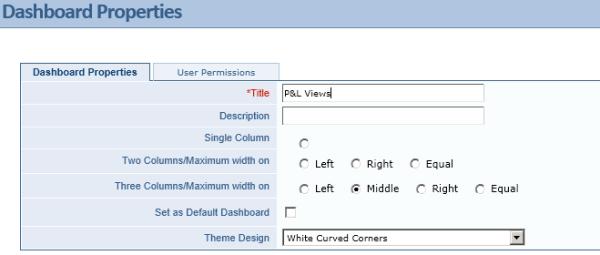 Intacct Dashboard: New Dashboard Title