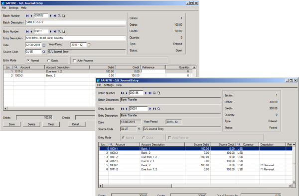 Sage 300 ERP with Orchid Inter Entity Transactions