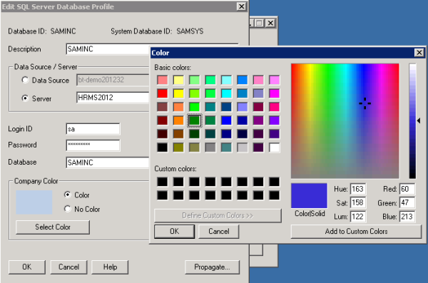 Sage 300 ERP Picking Colors