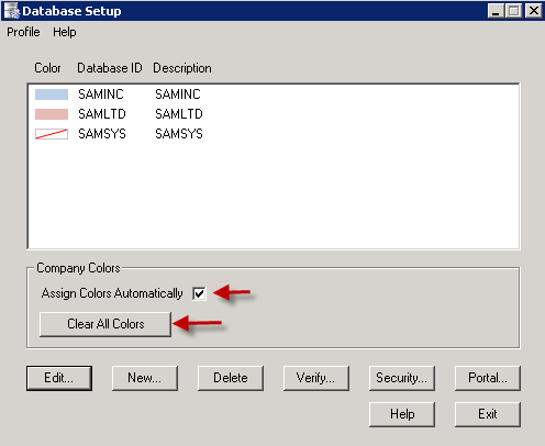 Sage 300 ERP Assign Colors