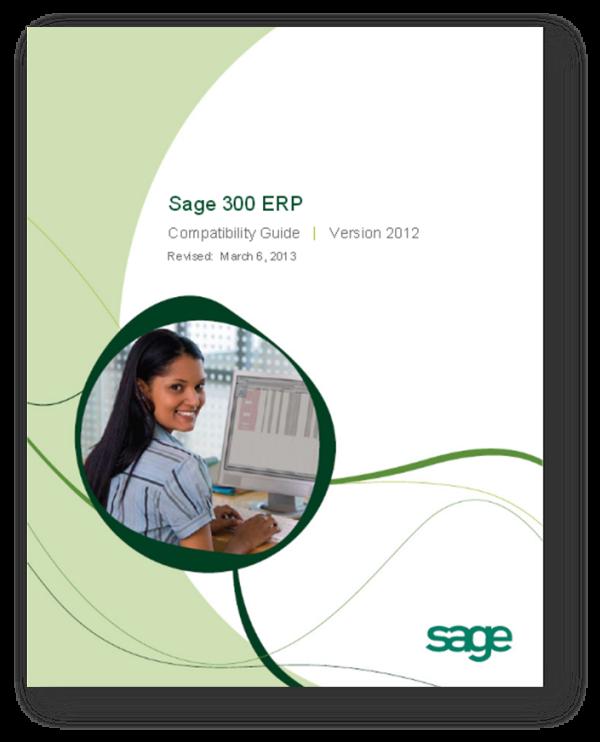 Sage 300 ERP 2012 Compatibility Guide