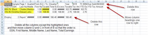 Excel Spreadsheet TWC Sage 300 ERP