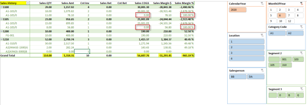 Sage 300 ERP and PowerPivot: Sales History Report
