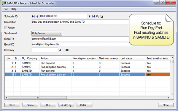 Orchid Systems Process Scheduler with Sage 300 ERP