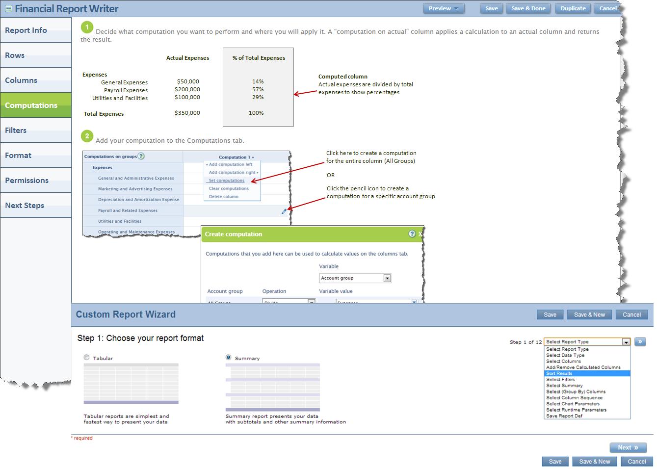 Intacct Custom Report Wizard & Document Report Writer