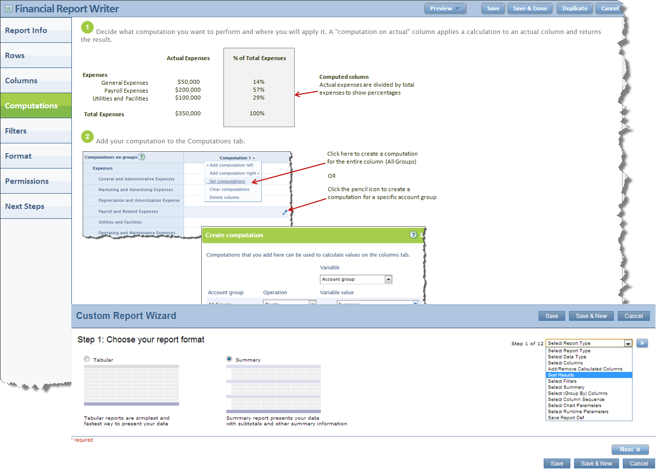 Intacct Custom Report Wizard & Document Report Writer