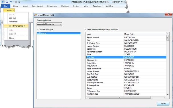 Intacct Custom Document Toolbar
