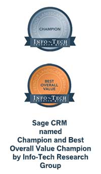 Sage awarded Champion and Best Value by Info-Tech Research Group